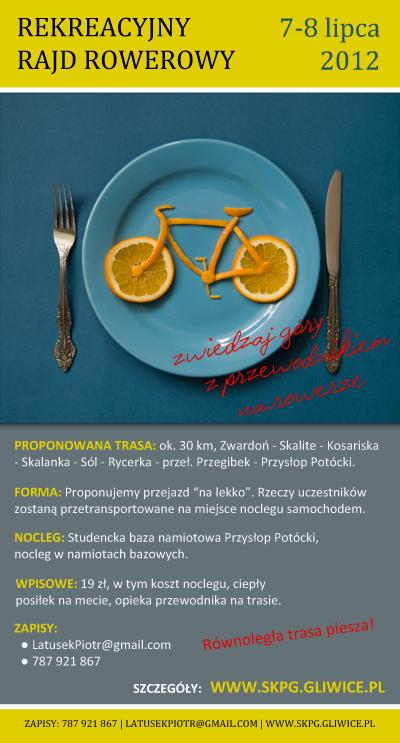 Rekreacyjny Rajd Rowerowy, 7-8 lipca 2012