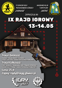 IX Rajd Igrowy - Plakat